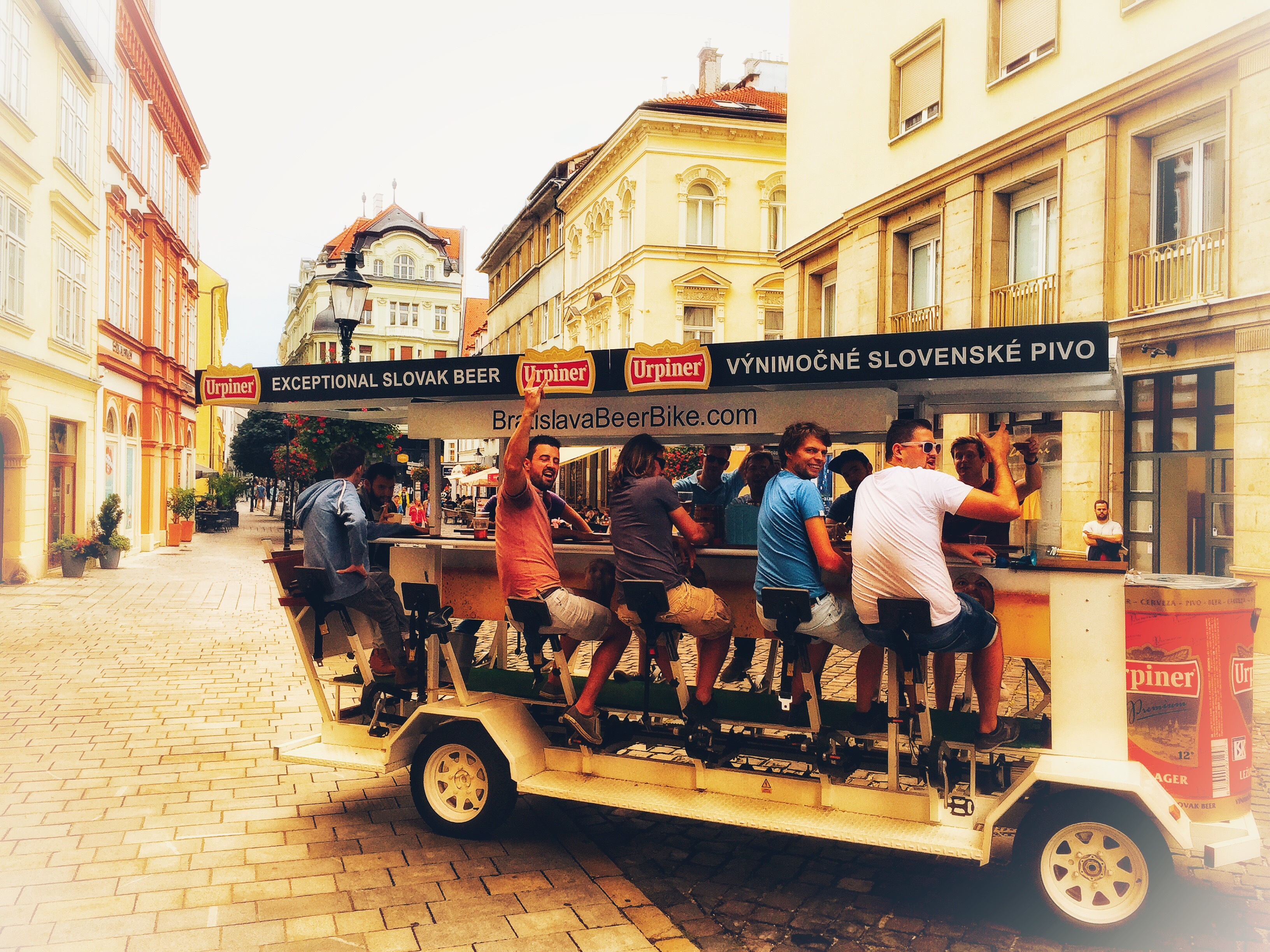 Fun with the Prague beer bike